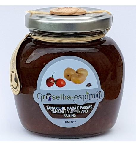 Tamarillo, Apple and Raisins Chutney